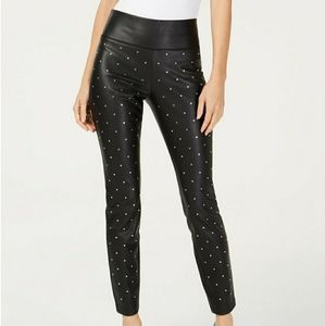 NEW INC PLUS SIZE 18 STUDDED LEATHET SKINNY PANTS